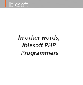 in other words iblesoft php programmers